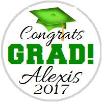 Hershey Kisses Graduation - KISS Congrats Grad Green