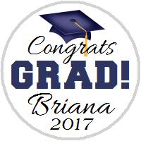 Hershey Kisses Graduation - KISS Congrats Grad Navy Blue