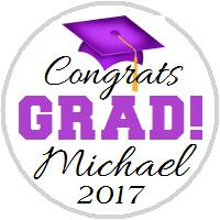 Hershey Kisses Graduation - KISS Congrats Grad Purple