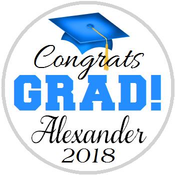 Hershey Kisses Graduation - KISS Congrats Grad Blue