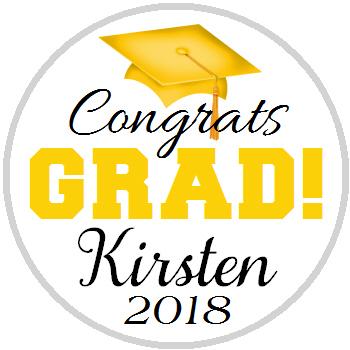 Hershey Kisses Graduation - KISS Congrats Grad Gold Yellow