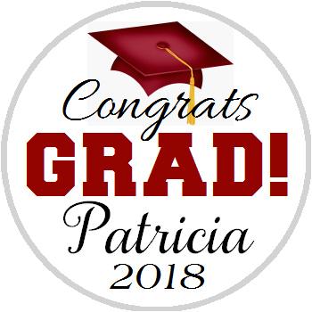 Hershey Kisses Graduation - KISS Congrats Grad Maroon
