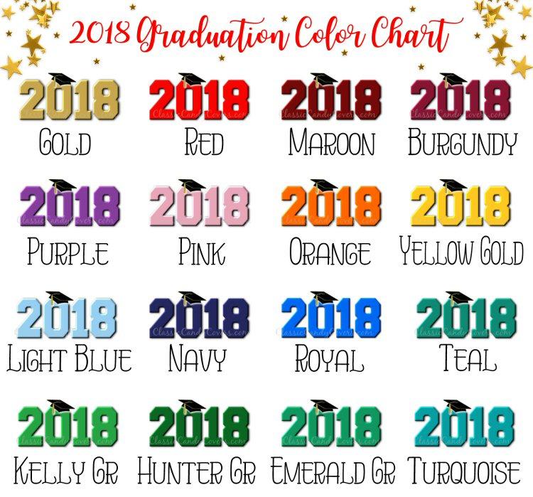Hershey Kisses Graduation - Kiss 2018 Graduation - All School Colors!