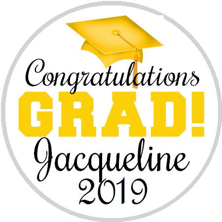 Hershey Kisses Graduation - Congrats Grad Yellow Gold