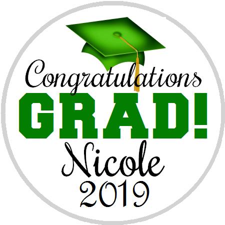 Hershey Kisses Graduation - Congrats Grad Green