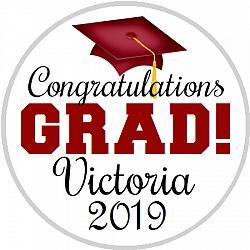 Hershey Kisses Graduation - Congrats Grad Maroon