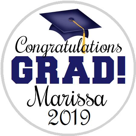 Hershey Kisses Graduation - Congrats Grad Navy Blue