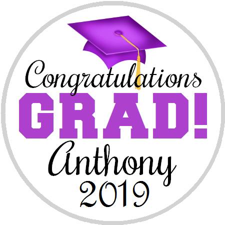 Hershey Kisses Graduation - Congrats Grad Purple