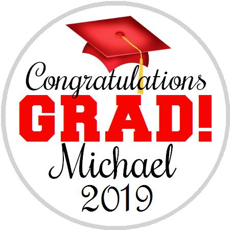 Hershey Kisses Graduation - Congrats Grad Red