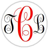 Hershey Kisses Wedding - Monogram Script Initials - Choose Your Colors!