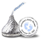 Baby Boy Hershey Kisses Stickers