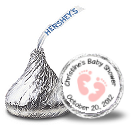 Baby Girl Hershey Kisses Stickers