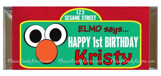 CWBD - Elmo 2 Inspired Candy Bar Wrappers