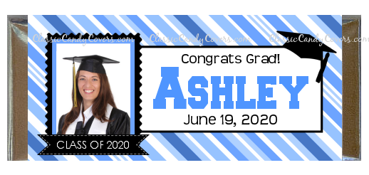 CW- GRAD_Graduation Stripe Photo - ALL COLORS AVAILABLE!