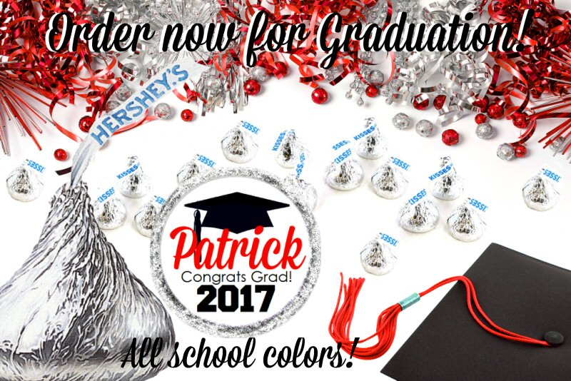 Personalized Graduation Hershey Kisses Stickers