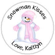 Hershey Kisses Christmas - KISS HH08_Snowman Pink