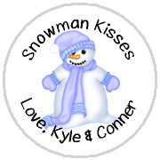 Hershey Kisses Christmas - KISS HH09_Snowman Blue