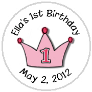 Hershey Kisses Birthday - KISS BD_122 1st Birthday Princess Crown