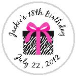 Hershey Kisses Birthday - KISS BD29 - Zebra Stripe Birthday Present