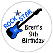 Hershey Kisses Birthday - KISS BD42 - Rock Star Guitar (blue)
