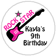 Hershey Kisses Birthday - KISS BD43 - Rock Star Guitar (pink)
