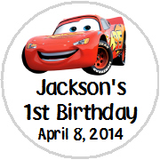 Hershey Kisses Birthday - KISS K_Cars Lightening McQueen
