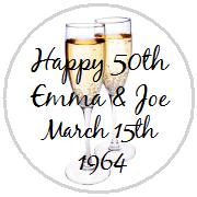 Hershey Kisses Anniversary - Champagne Toast 1