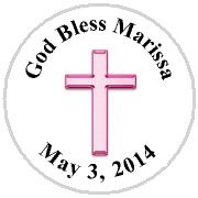 Hershey Kisses Religious - KISS REL02_Religious Cross Pink