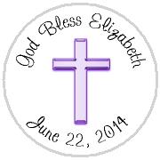 Hershey Kisses Religious - KISS REL06_Religious Cross Lavender