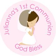 Hershey Kisses Religious - KISS REL21_Communion Girl Brunette