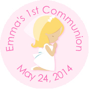 Hershey Kisses Religious - KISS REL22_Communion Girl Blonde