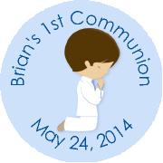 Hershey Kisses Religious - KISS REL24_Communion Boy Brunette