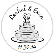 Kisses Wedding - KISS WD_12 - Wedding Cake with Topper