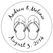 Kisses Wedding - KISS WD_22 - Beach Theme - White Flip Flops