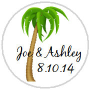 Kisses Wedding - KISS WD_25 - Beach Theme - Single Palm Tree