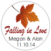 Kisses Wedding - KISS WD_35 - Fall (Autumn) Single Leaf