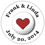 Kisses Wedding - KISS WD_43 - Golf Ball with Heart
