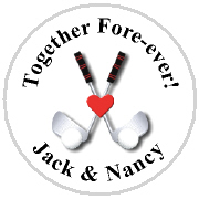 Kisses Wedding - KISS WD_44 - Golf Clubs with Heart