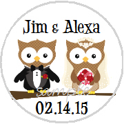 Kisses Wedding - KISS WD_45 - Wedding Owl Couple