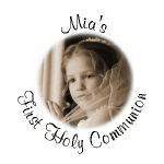 Personalized Photo Communion Hershey Kisses Stickers