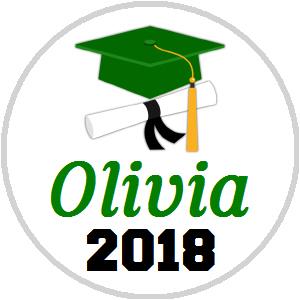 Hershey Kisses Graduation - KISS Grad Cap Diploma Green