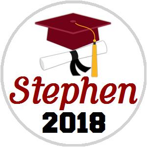 Hershey Kisses Graduation - KISS Grad Cap Diploma Maroon