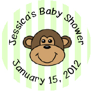 Hershey Kisses Baby Shower - KISS BS29-Monkey Hershey Kisses Labels Stickers, Personalized Baby Shower Hershey Kisses, Baby Shower, Baby, Monkey, Jungle Theme