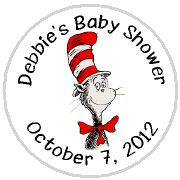 Hershey Kisses Baby Shower - KISS BS30-Cat In The Hat Hershey Kisses Labels Stickers, Personalized Baby Shower Hershey Kisses, Baby Shower, Baby, Cat In The Hat, Dr. Suess, Dr Suess