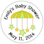 Hershey Kisses Baby Shower - KISS BS41-Baby Shower Star Mobile Hershey Kisses Labels Stickers, Personalized Baby Shower Hershey Kisses, Baby Shower, Baby, Star, Mobile, Kiss Labels, Hershey Kisses