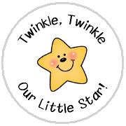Hershey Kisses Baby Shower - KISS BS43-Star Baby Shower Hershey Kisses Labels Stickers, Personalized Baby Shower Hershey Kisses, Baby Shower, Baby, Star, Twinkle Twinkle Little Star, Little Star
