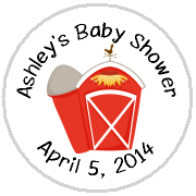 Hershey Kisses Baby Shower - KISS BS46-Red Barn Hershey Kisses Labels Stickers, Personalized Baby Shower Hershey Kisses, Baby Shower, Baby, Kiss Labels, Hershey Kisses, Farm Animals, Pig, Old MacDonald's Farm, Red Barn, Cow