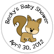Hershey Kisses Baby Shower - KISS BS47-Forest Animals Hershey Kisses Labels Stickers, Personalized Baby Shower Hershey Kisses, Baby Shower, Baby, Forest, Animals, Forest Animals, Squirrel