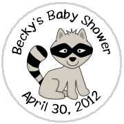Hershey Kisses Baby Shower - KISS BS48-Forest Animals Hershey Kisses Labels Stickers, Personalized Baby Shower Hershey Kisses, Baby Shower, Baby, Forest, Animals, Forest Animals, Raccoon