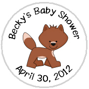 Hershey Kisses Baby Shower - KISS BS49-Forest Animals Hershey Kisses Labels Stickers, Personalized Baby Shower Hershey Kisses, Baby Shower, Baby, Forest, Animals, Forest Animals, Fox